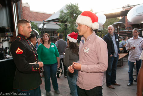 The U.S. Marines Toys for Tots program collected toys during the 2012 Operation Social Santa, also at the Handlebar.