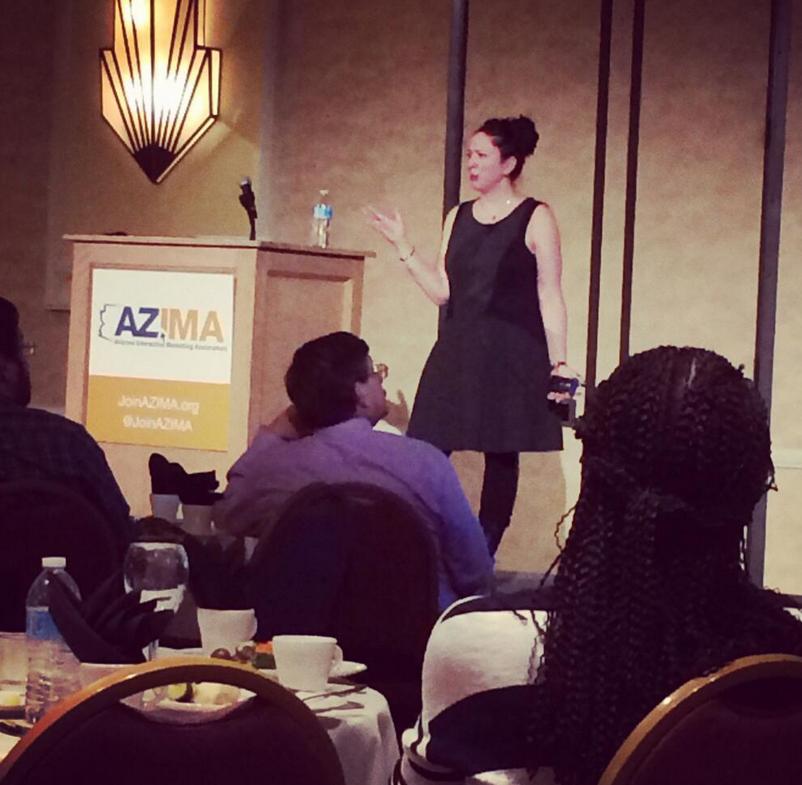Jodi Gersh, from Gannett and USA Today, at February's AZIMA event. Photo; Cody Landefeld