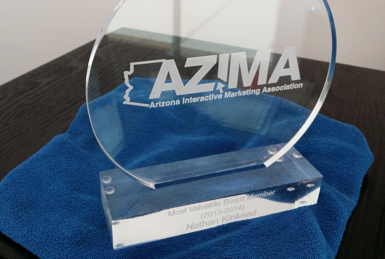 AZIMA Most Valuable Board Member 2014 Award